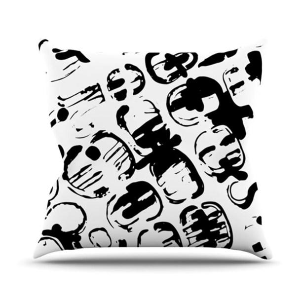 Throw Pillow Color: Theodora's Tantrum, Size: 26