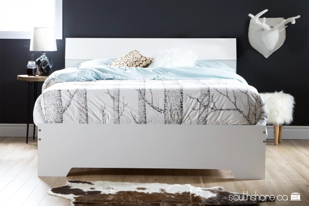 Vito Queen Platform Bed Finish: White