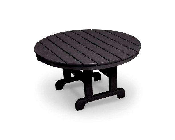 Cape Cod Chat Table Finish: Charcoal Black, Table Size: 36