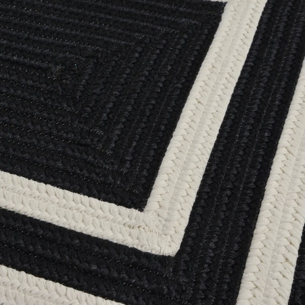 Marti Hand-Woven Outdoor Black Area Rug Rug Size: Runner 2' x 10'