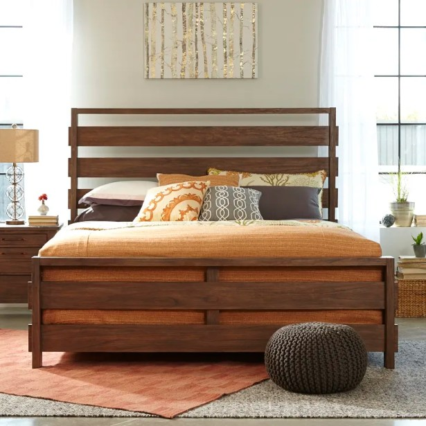 Driftwood Panel Bed Size: Queen