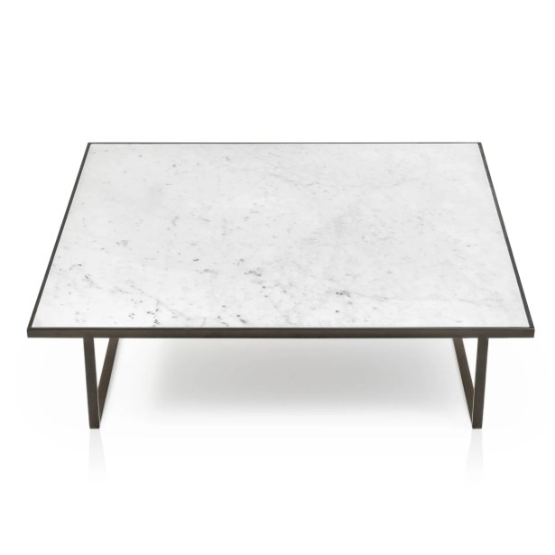 Icaro Coffee Table Table Base Color: Black Titanium, Table Top Color: Matte Grafite Marble
