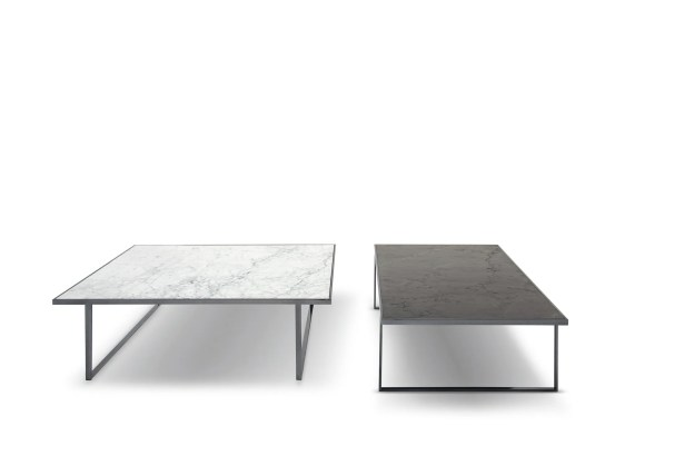 Icaro Coffee Table Table Top Color: High Gloss Emperador Marble, Table Base Color: Bronze