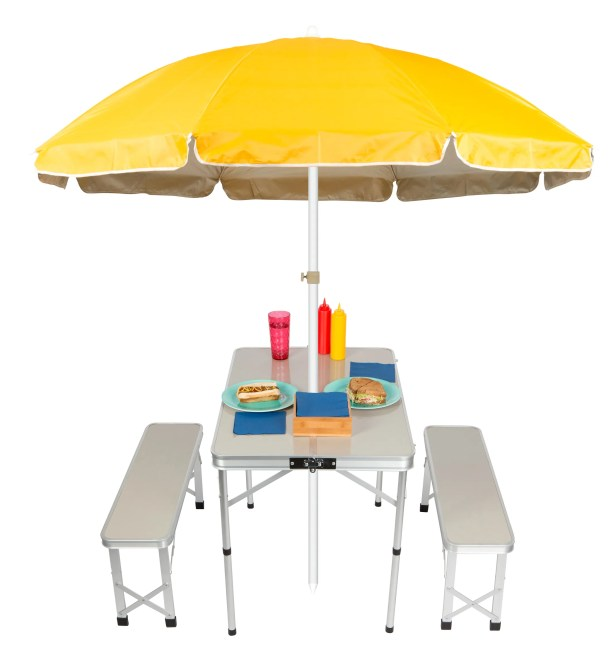 Folding Metal Camping Table Color: Yellow