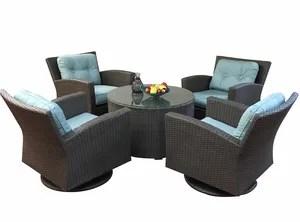 Sonoma 5 Piece Sunbrella Conversation Set with Cushions Fabric: Sunbrella Natural