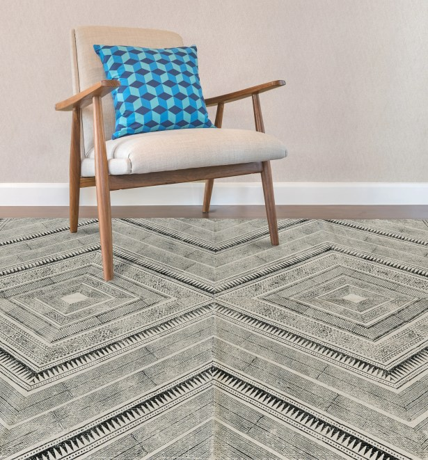 Lovell Hand-Woven Black Area Rug Rug Size: Rectangle 8' x 11'