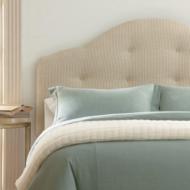 Nolan Upholstered Headboard Upholstery: Lizzy Linen, Size: King