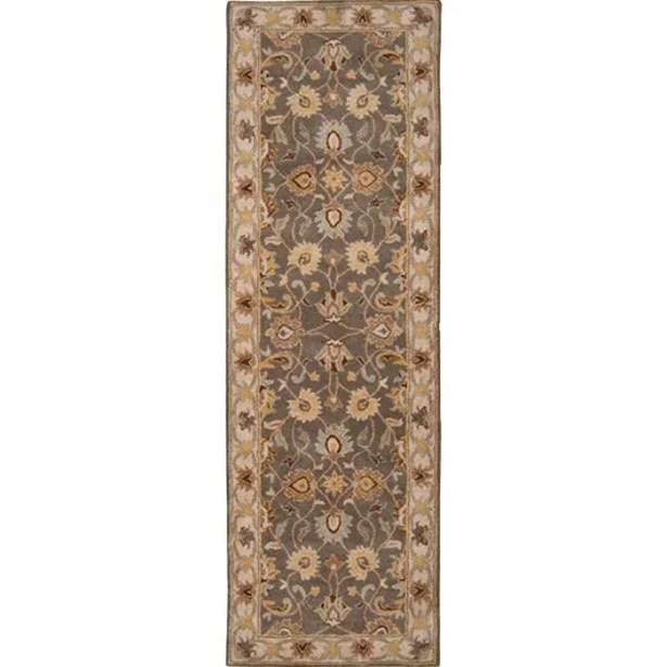 Arden Sage Hand-Woven Wool Area Rug Rug Size: Runner 3' x 12'
