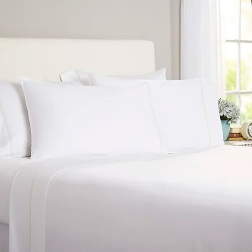 Celina Bedding 2 Piece 300 Thread Count Egyptian Quality Cotton Sheet Set Size: Queen, Color: White / Ivory