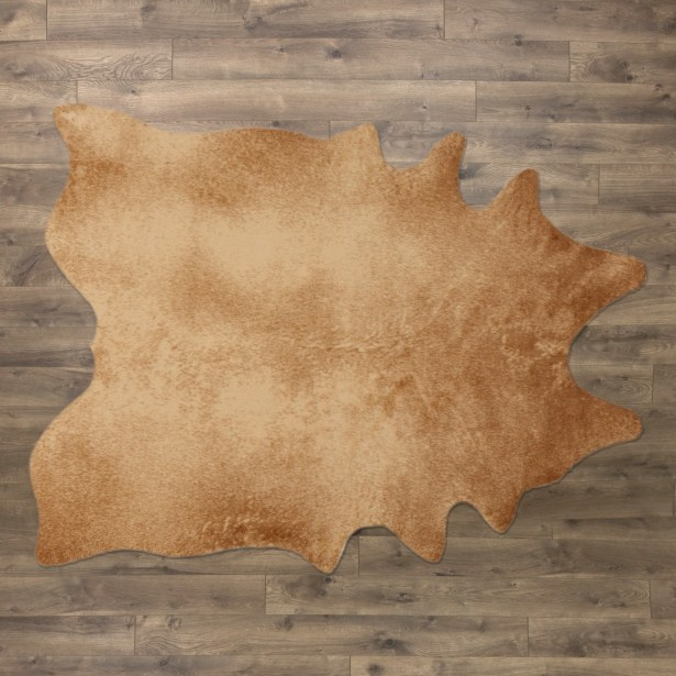 Freya Faux Cowhide Tan Area Rug Size: Novelty 6'2