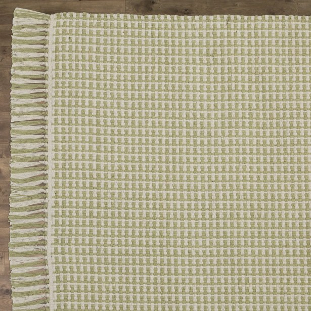 Iggy Hand-Woven Cotton Olive Area Rug Rug Size: Rectangle 6' x 9'