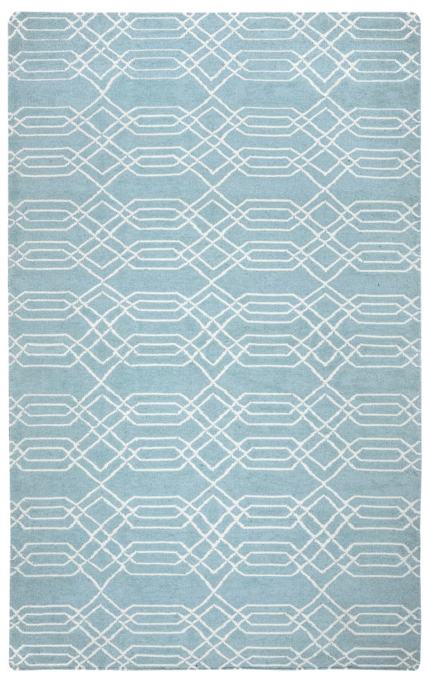 Libby Blue & Parchment Rug Rug Size: Rectangle 5' x 8'
