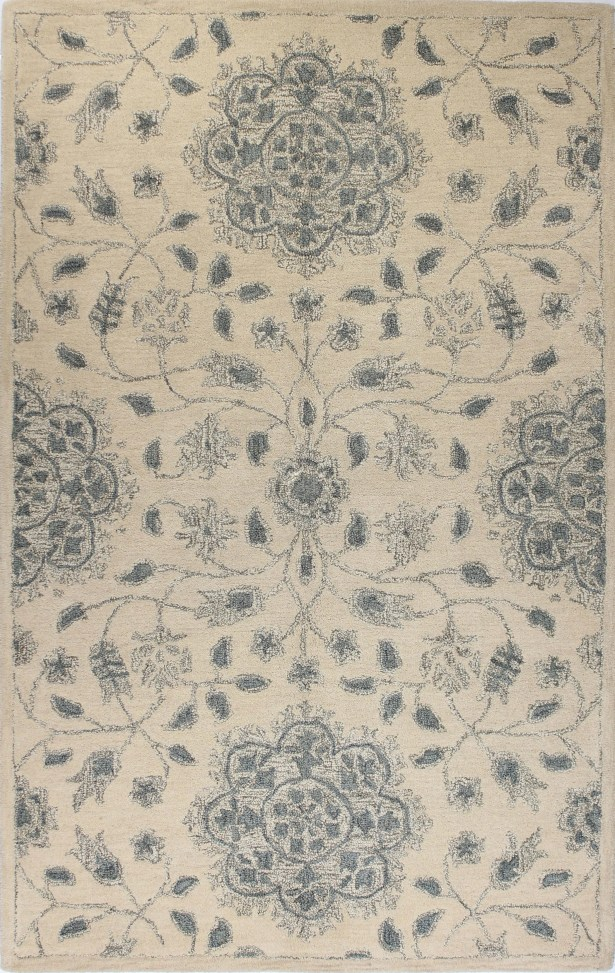 Arsenal Hand-Knotted Light Blue Area Rug Rug Size: 9'9