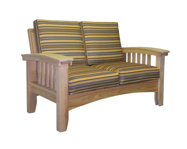 Days End Deep Seating Sofa with Cushion Finish: Natural, Color: Foster Metallic Stripe