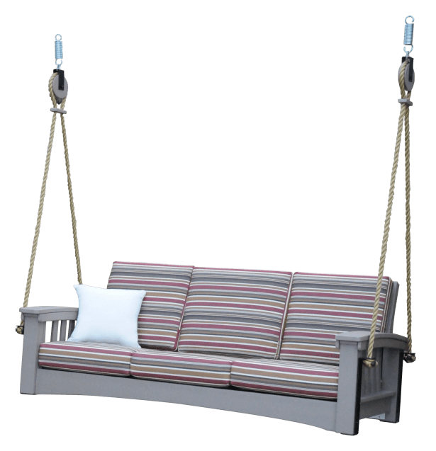 Days End Sofa Rope Porch Swing Cushion Fabric: Cast Ash, Finish: White
