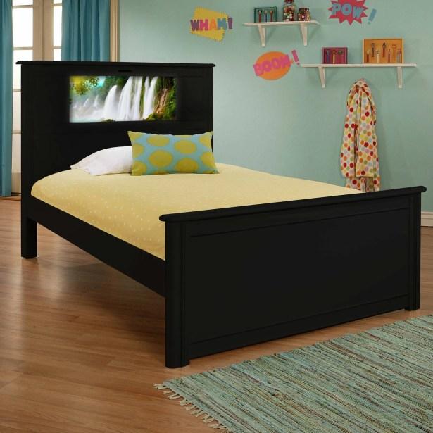 Rivera Storage Platform Bed Color: Black, Size: Twin