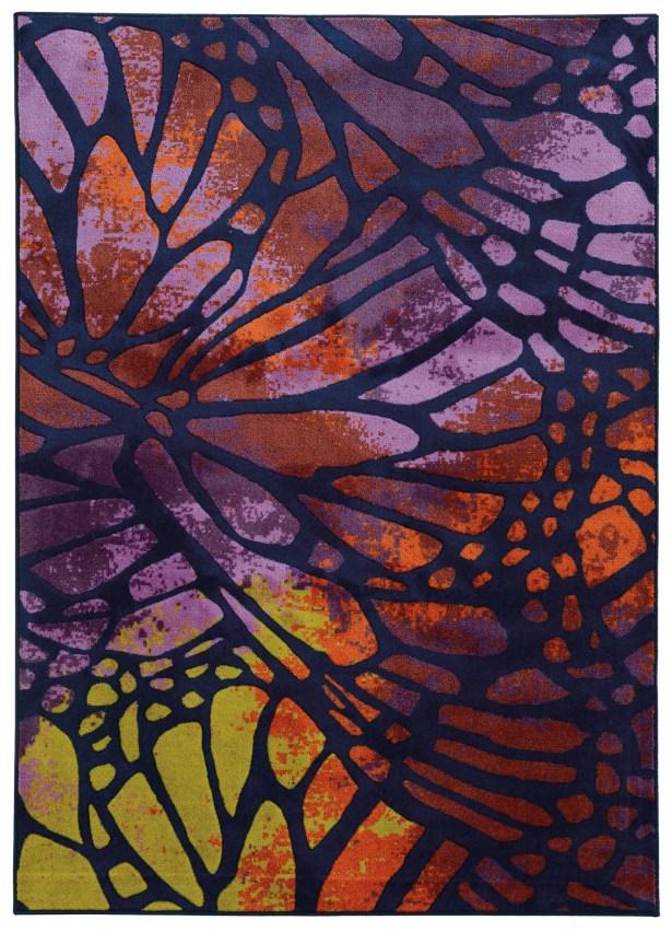 Prismatic Abstract Purple/Orange Area Rug Rug Size: Rectangle 5'3