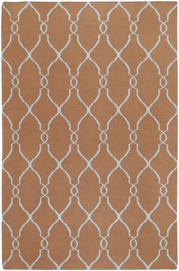 Fallon Chocolate/Pale Beige Area Rug Rug Size: Rectangle 3'6