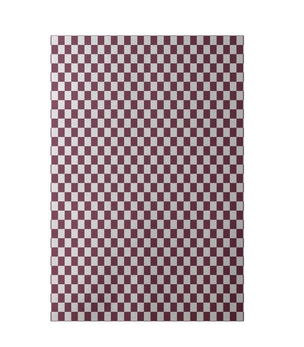 Geometric Purple Indoor/Outdoor Area Rug Rug Size: Rectangle 5' x 7'