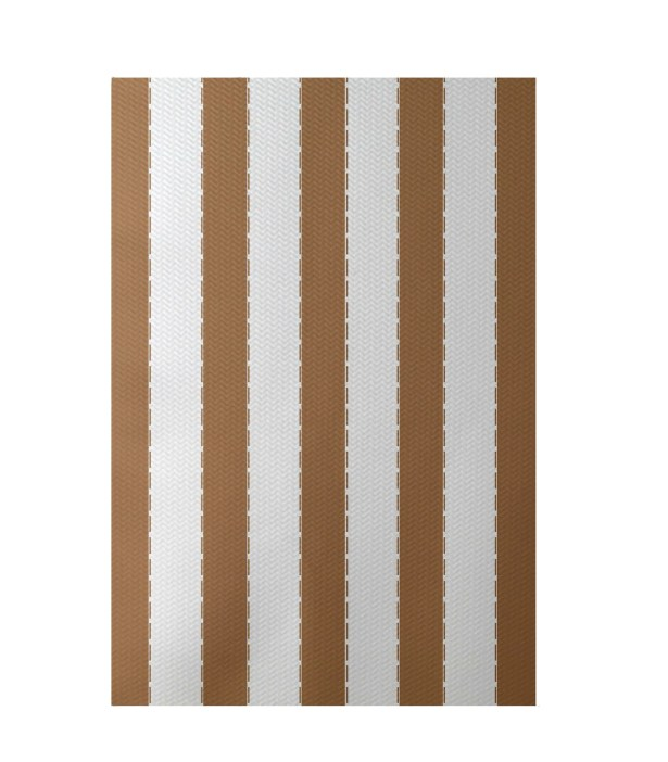 Stripe Hand-Woven Brown Indoor/Outdoor Area Rug Rug Size: Rectangle 5' x 7'