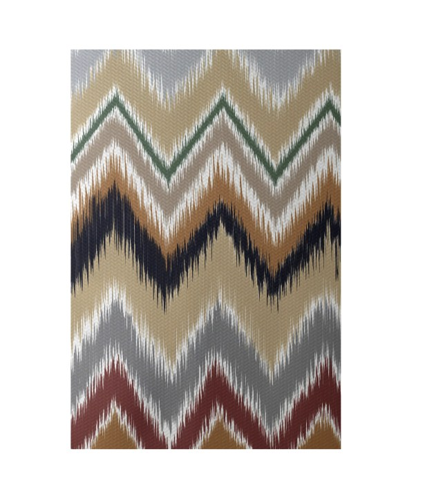 Chevron Taupe Indoor/Outdoor Area Rug Rug Size: Rectangle 3' x 5'