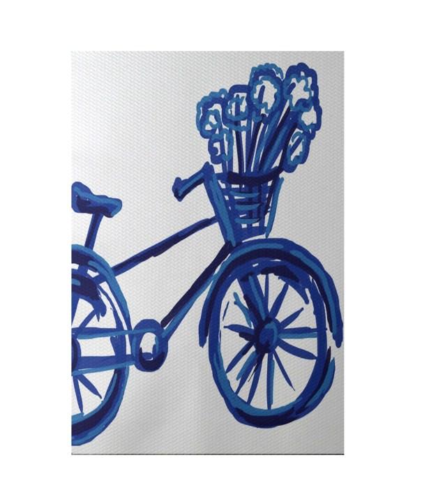 La Bicicleta Geometric Print Dazzling Blue Indoor/Outdoor Area Rug Rug Size: Rectangle 3' x 5'