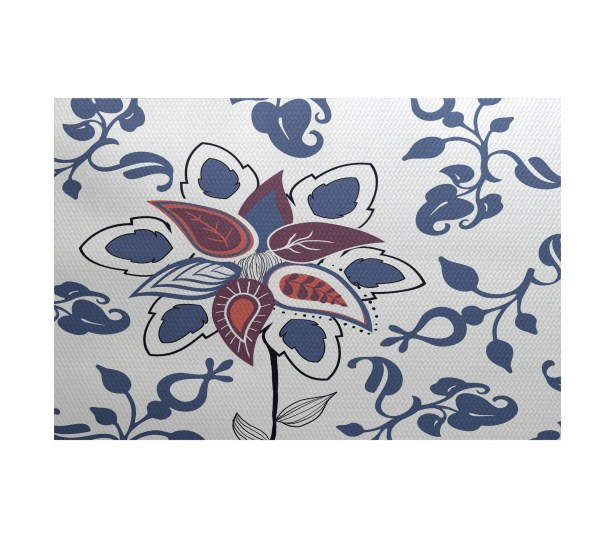 Orchard Lane Blue Indoor/Outdoor Area Rug Rug Size: Rectangle 3' x 5'