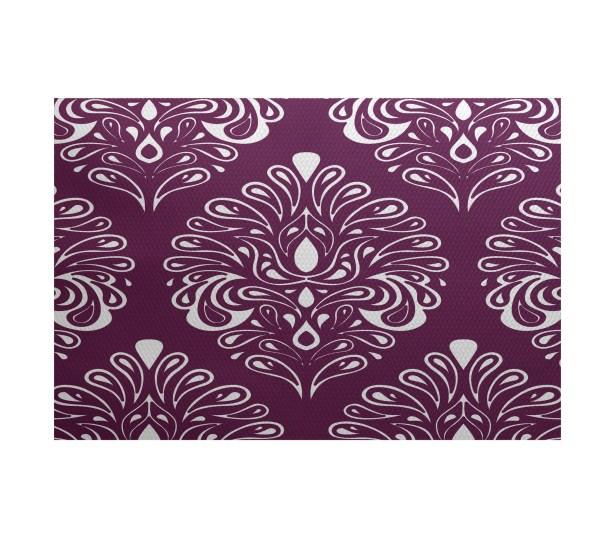 Rhymer Purple Indoor/Outdoor Area Rug Rug Size: Rectangle 4' x 6'