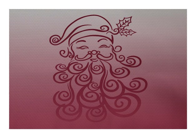 Santa Baby Decorative Holiday Ombre Print Cranberry Burgundy Indoor/Outdoor Area Rug Rug Size: Rectangle 3' x 5'