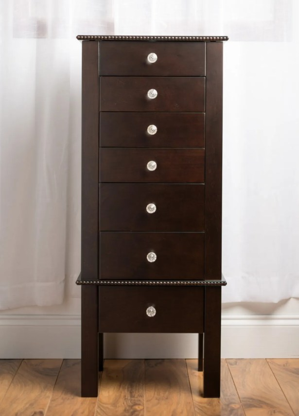 Euramo Jewelry Armoire with Mirror