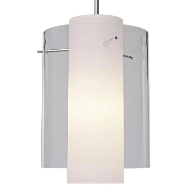 Rome 1-Light Cylinder Pendant Bulb Type: Incandescent, Color: Chrome, Shade Color: Amethyst
