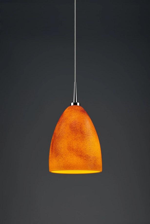 Alexander 1-Light Cone Pendant Shade Color: Tangerine, Color: Chrome