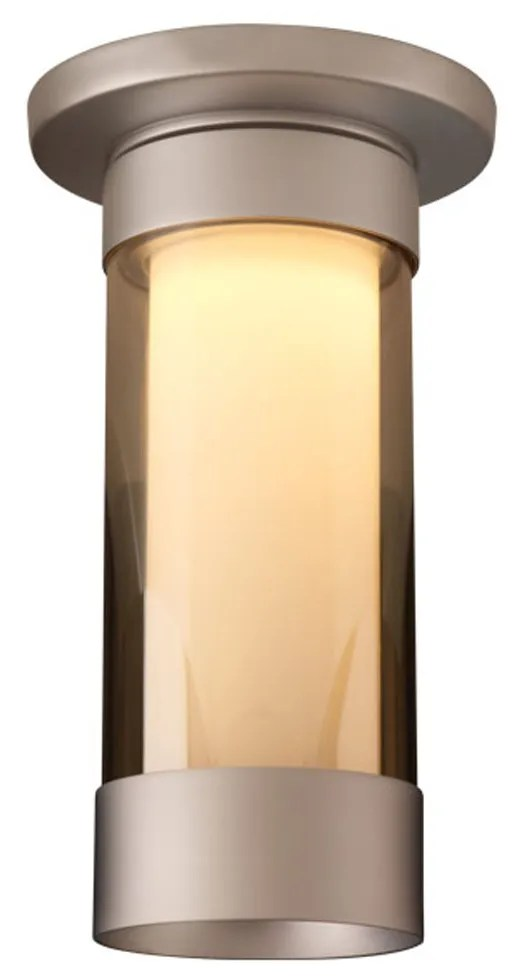 Silva 1-Light Flush Mount Color: Matte Chrome, Shade Color: Smoky