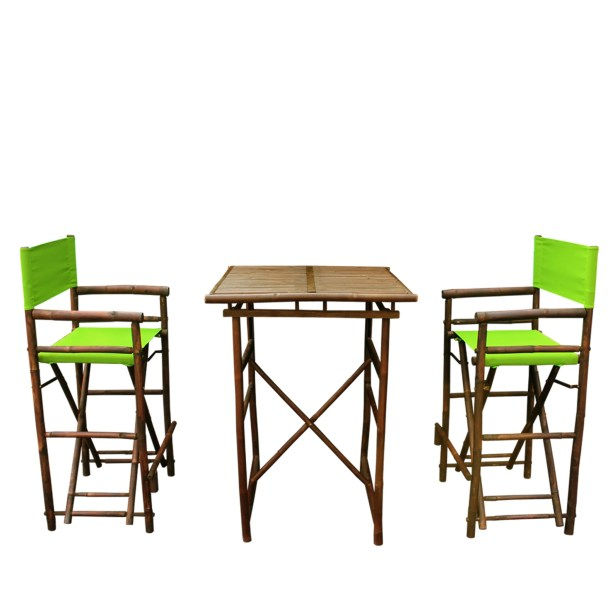 3 Piece Dining Set Fabric: Green