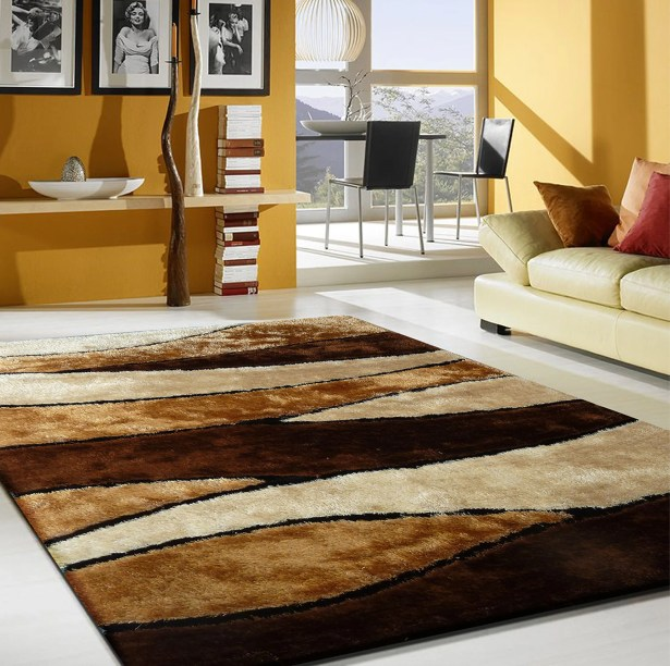 Owens Shaggy Hand-Tufted Brown Area Rug Rug Size: Rectangle 7'6