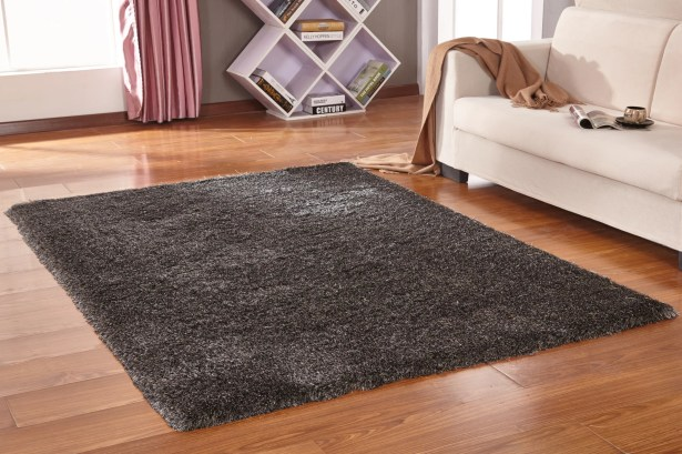 Lurex Tone Gray Hand Tufted Area Rug
