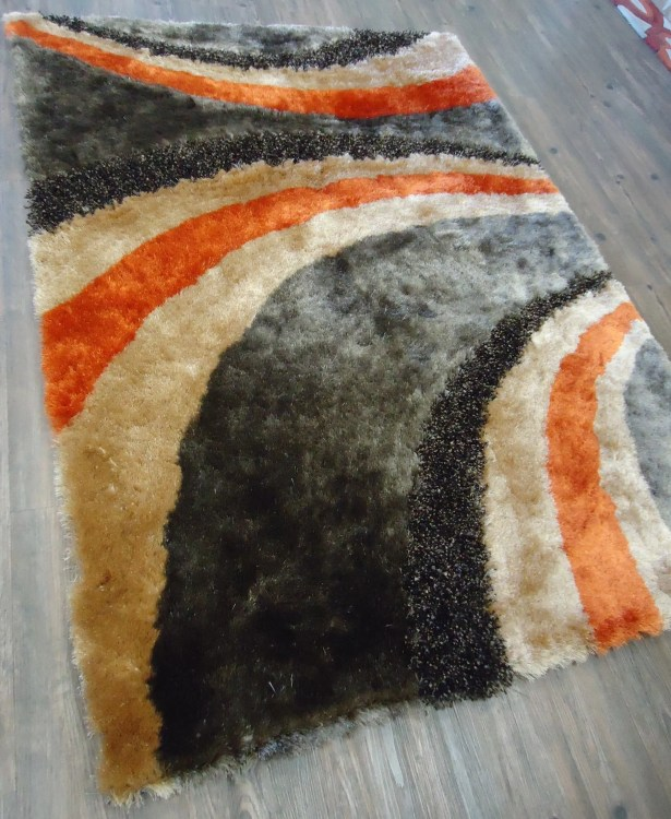 Xzavier Modern Hand Tufted Brown/Orange Area Rug Rug Size: Rectangle 7'6