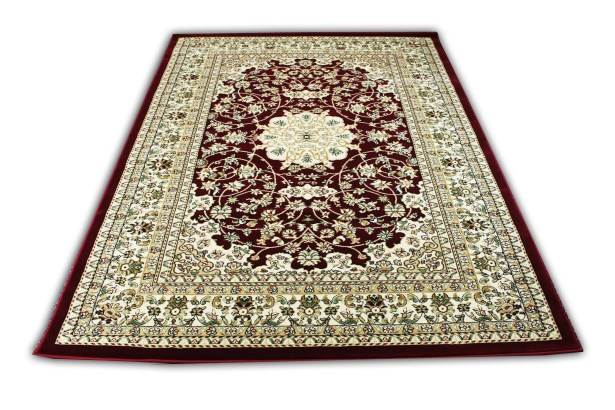 Linde Oriental Burgundy/Beige Area Rug Rug Size: Rectangle 5'4