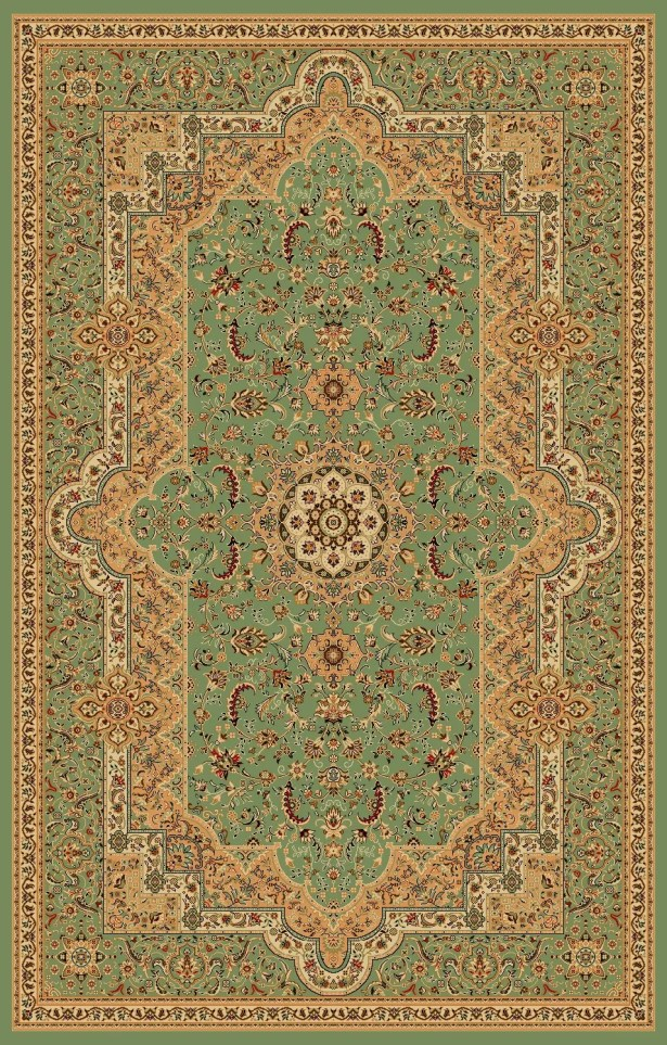 Boody Traditional Oriental Green Area Rug Rug Size: Rectangle 5'4