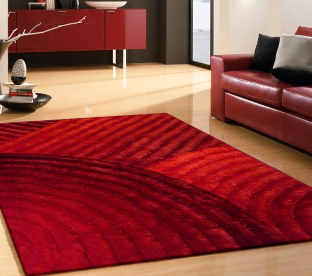Cropper Hand Tufted Red Area Rug Rug Size: Rectangle 7'6