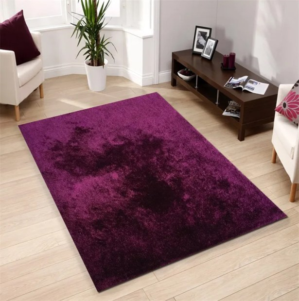 Pattison Hand-Tufted Magenta Area Rug Rug Size: Rectangle 7'6