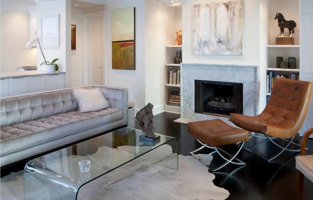 Abhinav Hand-Woven Cowhide Natural/Light Gray Indoor Area Rug Rug Size:  5' x 7'