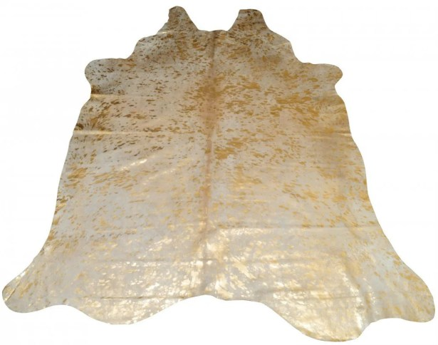 Houchin Cowhide Natural/Gold Area Rug