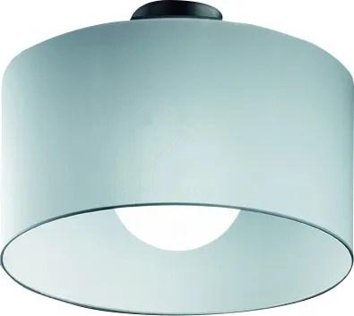 Fog 1-Light Semi Flush Mount Shade Color: Black