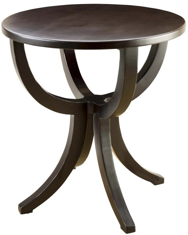 Round End Table Color: Black