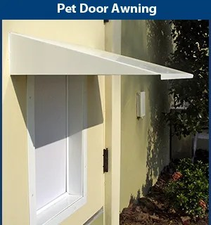 Universal Pet Door Awning Color: White