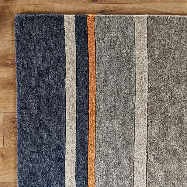 Dark Periwinkle Area Rug Rug Size: Rectangle 8' x 10'