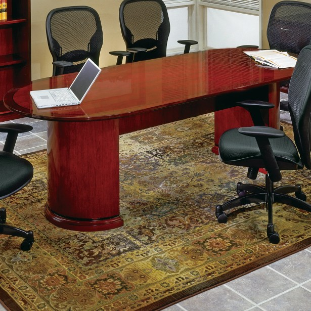 Mendocino Oval Conference Table Finish: Mahogany, Size: 10' L