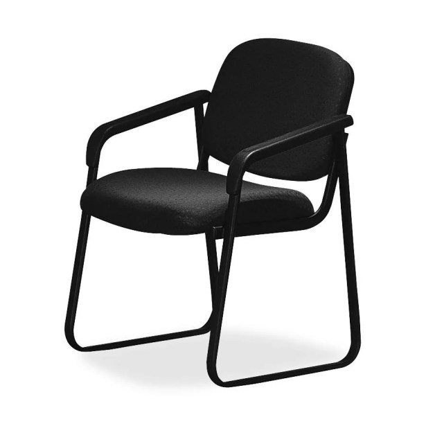 Deluxe Sled Base Guest Chair Seat Color: Black