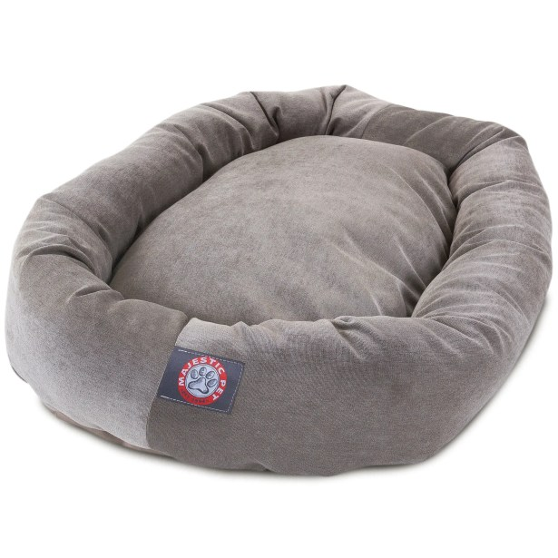 Bagel Dog Bed Color: Navy, Size: 40